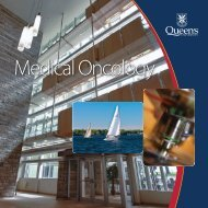 Medical Oncology - Faculty of Health Sciences - Queen's University