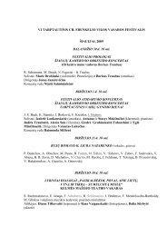 VI TARPTAUTINIS CH. FRENKELIO VILOS VASAROS FESTIVALIS ...