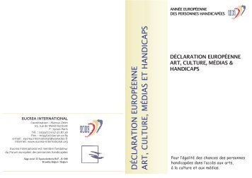 Déclaration européenne art, culture, médias et handicaps