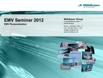 1.6 EMV Personalization - Mühlbauer Group