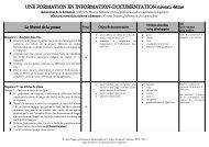 une formation en info-doc niveau 4ème - Sites web