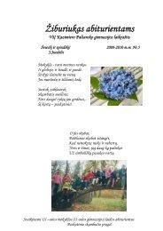 Žiburiukas abiturientams 2010 - Panevėžio Kazimiero Paltaroko ...