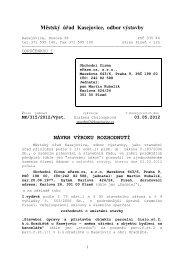 Návrh výroku rozhodnutí - Kasejovice