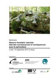 Réserve forestière naturelle Etat des connaissances et ...