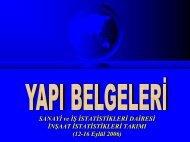 UAVT-Yapı Belgeleri Sunumu - Türkiye İstatistik Kurumu