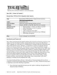 Volume 16, Number 1 Rosetta Stone TOTALe® K-12 ... - TESL-EJ
