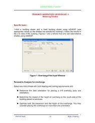 eQUEST/DOE-2 Tutorial TRAINING LABORATORY SESSION NO. 3 ...