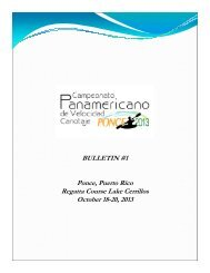 BULLETIN #1 Ponce, Puerto Rico Regatta Course Lake ... - copac