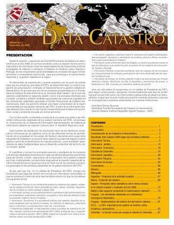 DATA CATASTRO - CPCI