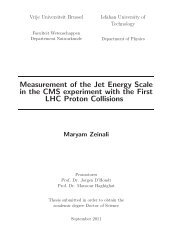 Measurement of the Jet Energy Scale in the CMS experiment ... - IIHE