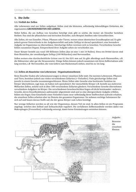 1. Die Zelle - Caucau.ch