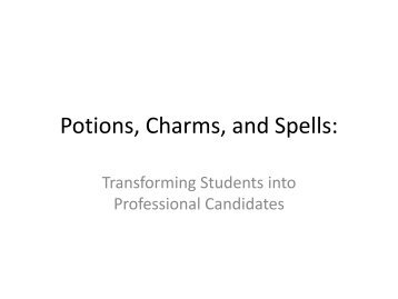 Potions, Charms, and Spells: