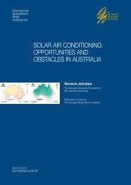 solar air conditioning - International Specialised Skills Institute