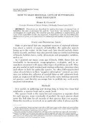 HOW TO MAKE REGIONAL LISTS OF BUTTERFLIES - Yale University