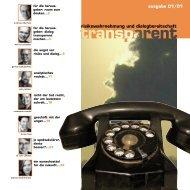Transparent Ausgabe 1 (2001) - Transparent-online.de