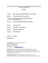 EBC 3rd Annual Ocean Management Conference Managing Ocean ...