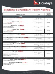 Experience Extraordinary Western Australia - Travel Time