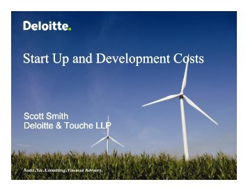 Start Up and Development Costs - Deloitte