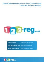 to download the Domain Name Administration, Billing ... - 123-Reg