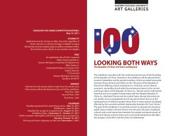 looking both ways - University of Michigan School of Art and Design
