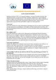 www.pediatric-rheumathology.printo.it KAWASAKIS SJUKDOM ...