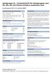 spielgruppe.ch – Fachzeitschrift für Spielgruppen und für alle, die ...
