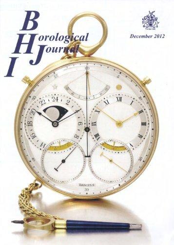 Horological Journal - Roger Smith