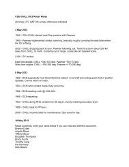 CSU-CHILL DC3 Radar Notes All times UTC (MDT+6) unless ...