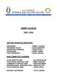 AHMET ULUKUŞ 2003- 2004 - Şişli Rotary Kulübü