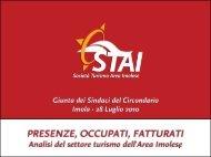 Ricerca Presenze Fatturati - Settore Turismo Imolese - 2009 - STAI
