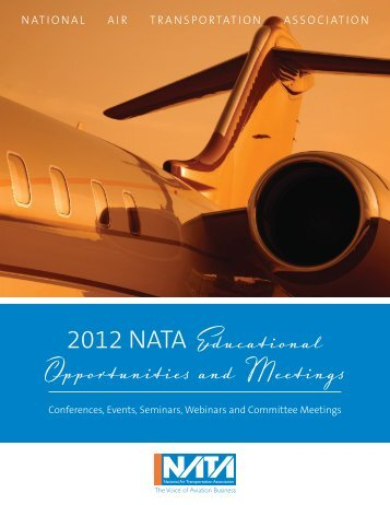 2012 NATA Educational Opportunities and Meetings