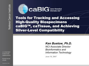 Presentation Title Goes Right Here - Office of Biorepositories and ...