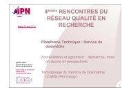 Service de dosimétrie - Réseau Qualité en Recherche - CNRS