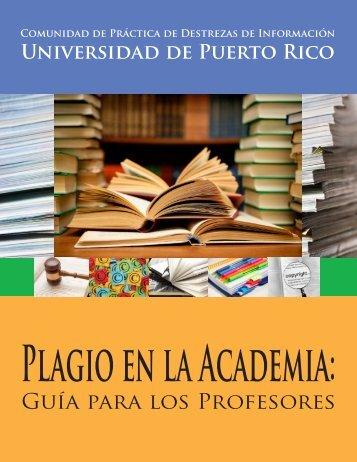 Plagio en la Academia - Biblioteca - Universidad de Puerto Rico