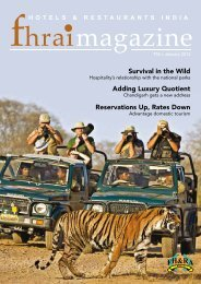 FHRAI Magazine : Jan 2012 Issue - Federation of Hotel and ...