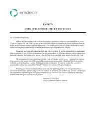 EMDEON CODE OF BUSINESS CONDUCT AND ETHICS