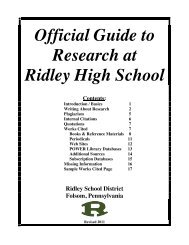 Ridley Research Guide - Ridley School District