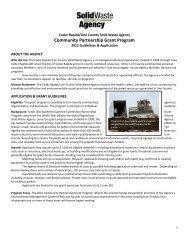 Community Partnership Grant - Cedar Rapids Linn County Solid ...