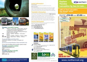 East Lancashire Day Ranger - Northern Rail