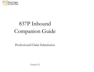 837P Companion Guide - Peach State Health Plan Peach State ...