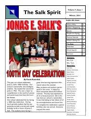 Salk Spirit - Levittown Public Schools