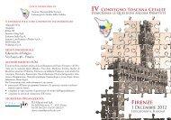 IV Convegno Toscana Cefalee - Sisc