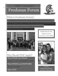 Freshman Forum - Troy University