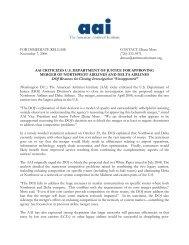 press release - American Antitrust Institute