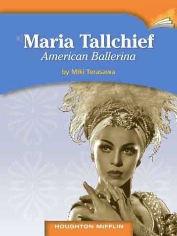 Lesson 18:Maria Tallchief American Ballerina