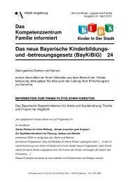 betreuungsgesetz (BayKiBiG) 24 - Kinderbetreuung in Augsburg