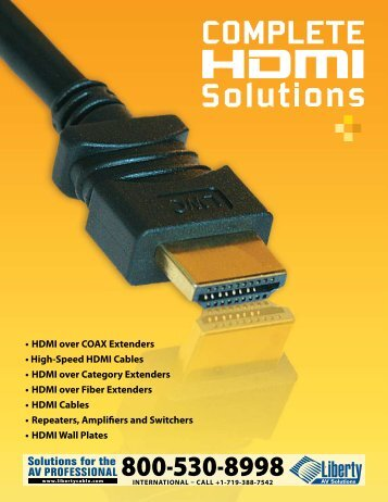 • HDMI over COAX Extenders • High-Speed HDMI Cables • HDMI ...