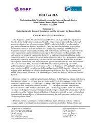 BULGARIA - Universal Periodic Review