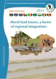 «Rural land tenure, a factor of regional integration» - CILSS