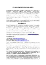 iv copa comunicación y empresas reglamento - Real Federación ...